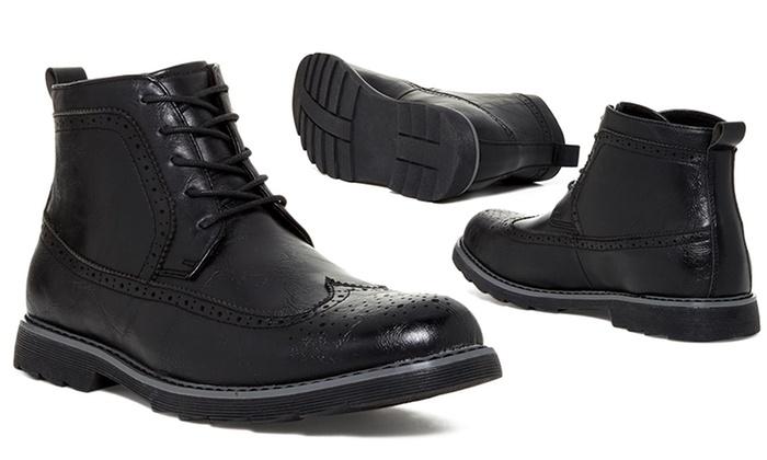 Giraldi Milan Men s Oxford Boot Shoes - Black - Size  10.5 D(M ... 3fe687831