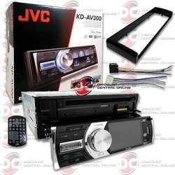 "JVC KD-AV300 Car Single-Din 1DIN 3 "" LCD DVD CD Player with Front USB Input & Aux-in + Remote"