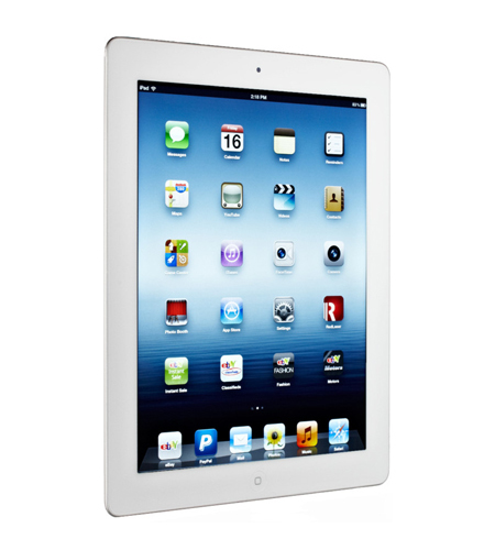 ... Apple iPad 4 with Retina Display 16GB Wi-Fi- White (MD513ZP/A ...