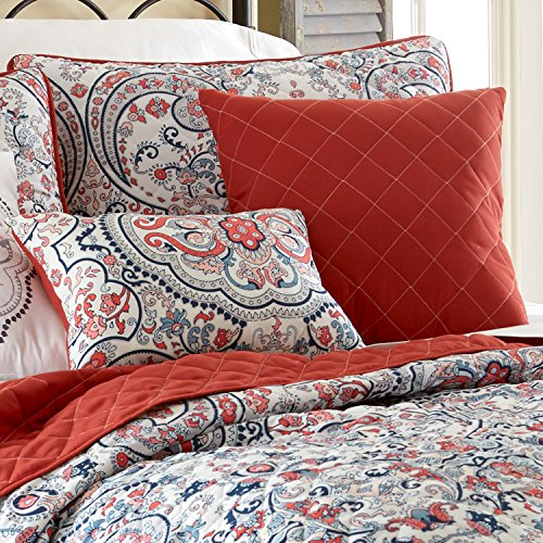 ... Amrapur Overseas 6pc Quilted Coverlet Set   Rust Red/White   Size:  Queen ...