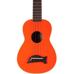 Kala MK-SD Makala Dolphin Soprano Ukulele - Orange with Makala Nylon Carry Bag