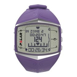 Polar Women's Heart Rate Monitor  Rubber Quartz Watch - Purple (FT60)