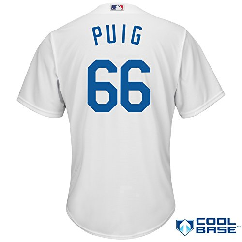 ... Yasiel Puig Los Angeles Dodgers  66 MLB Youth Cool Base Home Jersey ( Youth Small ... 7af0603de81