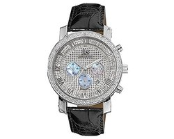 Joshua & Sons Men's Leather Strap Watch: Silver-tone Dial (JS-28-01)