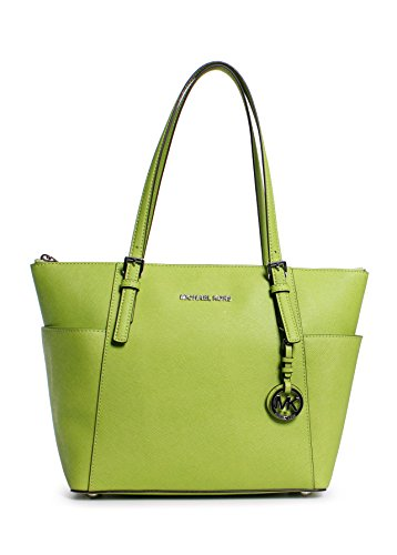 ce671218507942 ... Michael Kors Jet Set East West Top Zip Tote PEAR with SILVER Hardware  ...