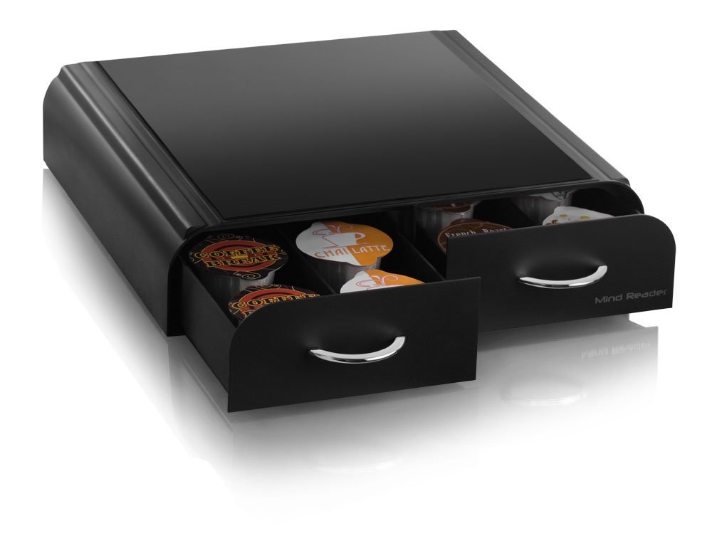 ... Mind Reader VUE Pack Coffee Pod Drawer   Black (VUETRY01BLK) ...
