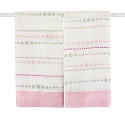 Aden + Anais 2 Pack Bamboo Fiber Issie Security Blanket - Tranquility Bead