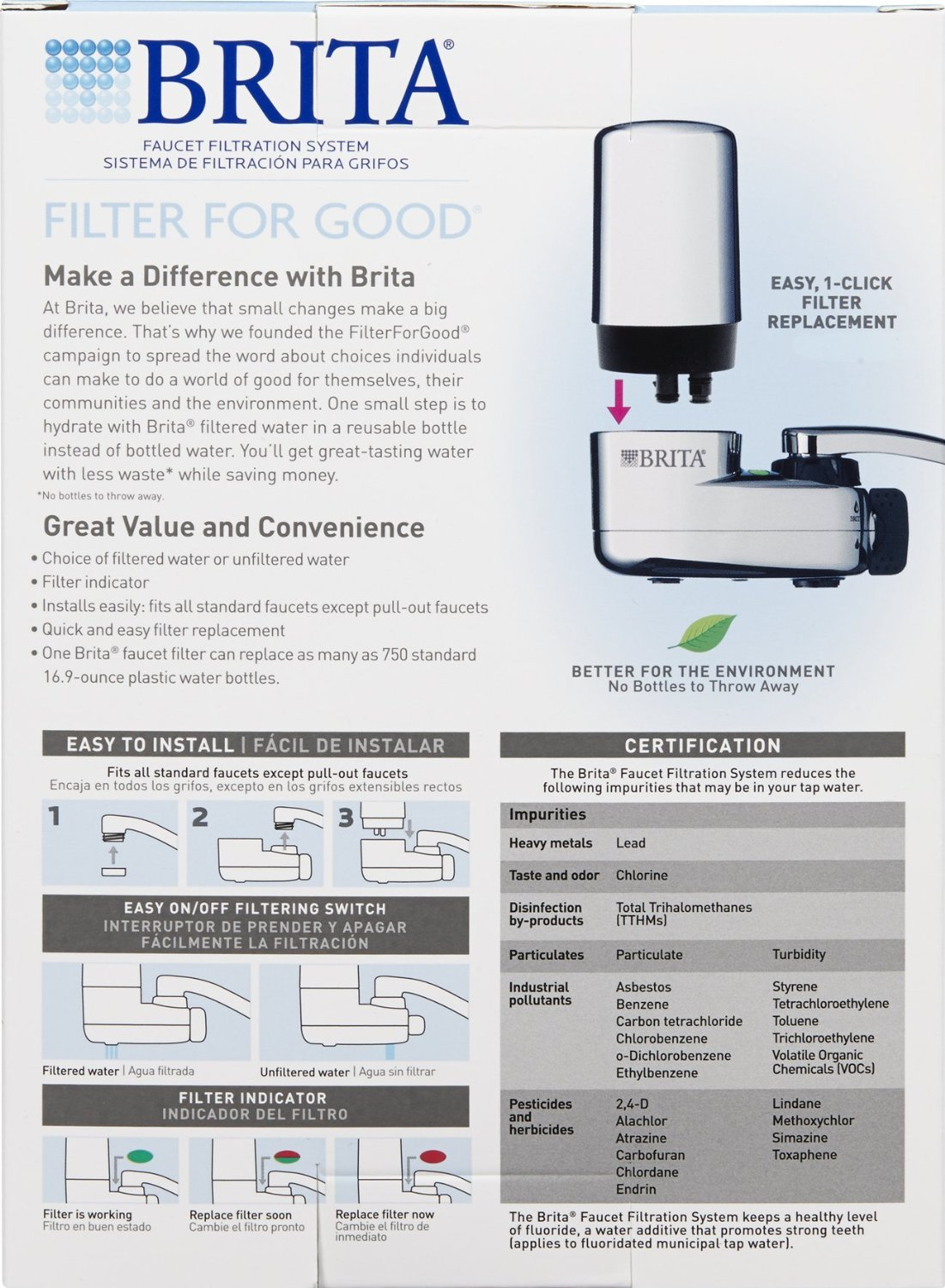 Brita Faucet Filtration System with 2 Filters - Chrome - Check Back ...