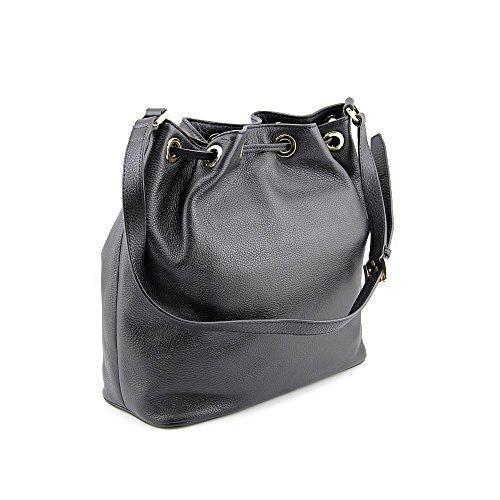 700f90cb221e ... Michael Kors Women's Jules Large Drawstring One Size Bucket Bag - Black  ...