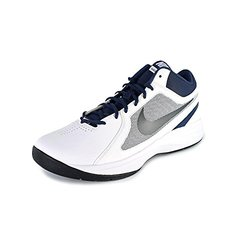quality design df810 0e33a ... Nike Men s The Overplay VIII Basketball Shoe - White Gray Navy - Size   ...