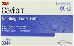 3M Cavilon No Sting Barrier Film 3344, 25 Wipes (Pack of 4)