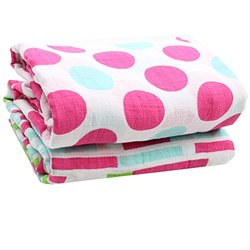 juDanzy 100% Cotton Swaddle Blanket -Set of 2 -Garden Delight - Sz: 45x45""