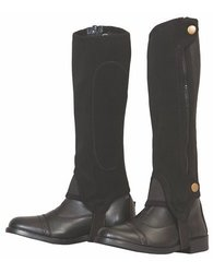 Grippy Nubuck Child Half Chaps - Black - Size: M (100661-640/16/M)