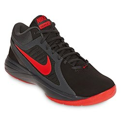 Nike Men's The Overplay VIII Basketball Shoes - Black/Red - Size: 8