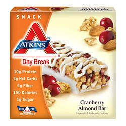 Atkins Day Break Snack Bars 5 Cranberry Almond 0ea 6 g, 100 mg, 5.0