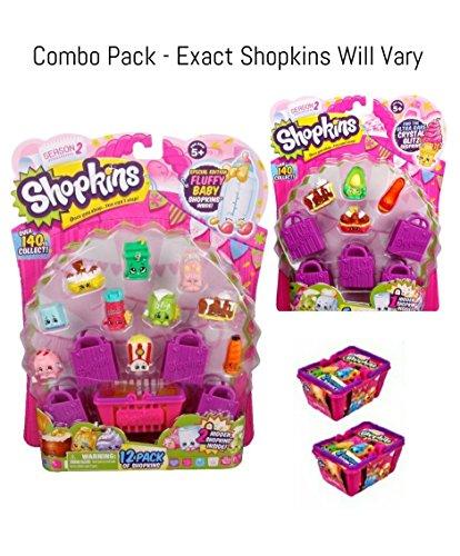 Toys Child Shopkins Season 2 S2 12 Pack 5pack Basket Bundle