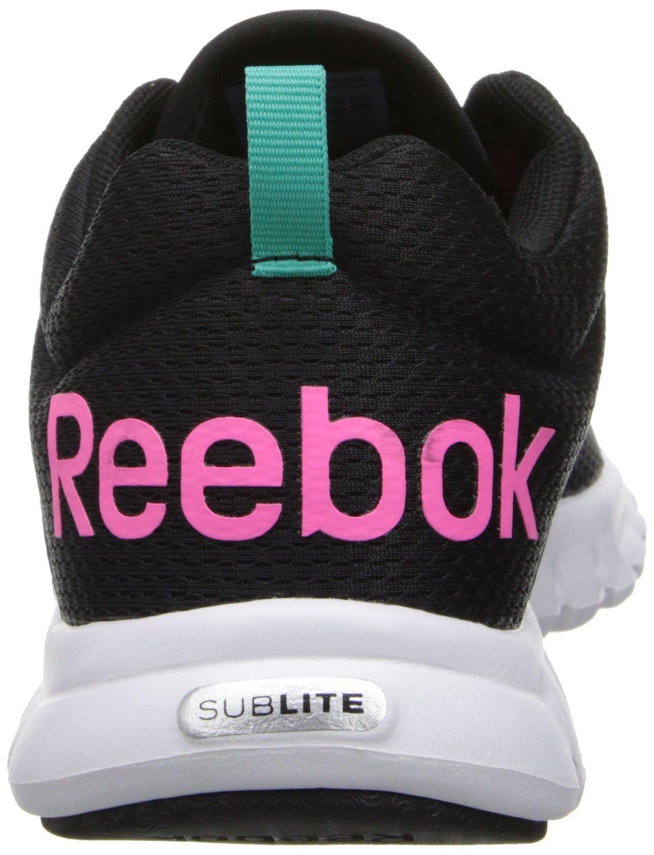 270c9bb76fb8 ... Reebok Women s Sublite Authentic Running Shoe - Black Pink - Size  9 ...