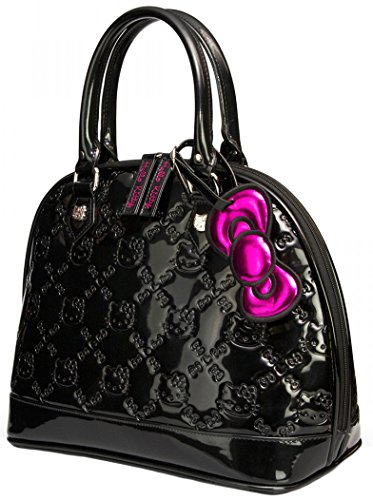 bd938c3be Loungefly Hello Kitty Black Shiny Patent Embossed Tote Bag - Check ...