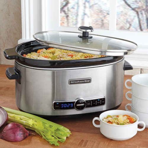 KitchenAid Slow Cooker W/ Standard Lid - Stainless Steel - 6Qt ...