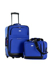 Let's Travel! 2-piece Carry-on Luggage Set: Blue