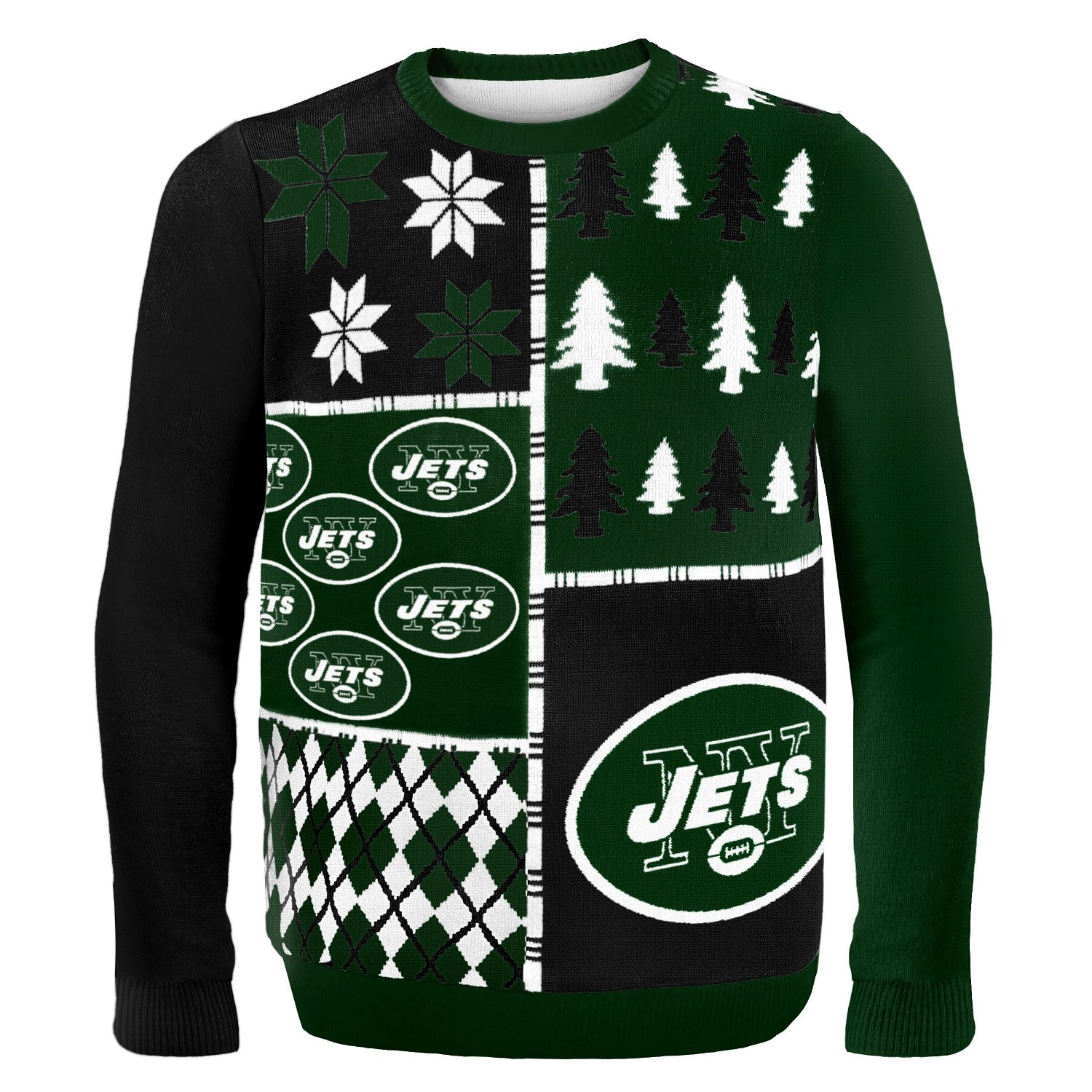 the latest aa397 1b5f1 Klew Men's NFL New York Jets Busy Block Ugly Sweater - Green - Size: XX-L -  Check Back Soon