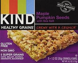 Kind Bar - Healthy Grains Bars Maple Pumpkin Seeds with Sea Salt - 5 Bars