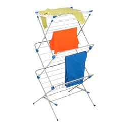 Honey-Can-Do 60-Inch 3-Tier Mesh Top Premium Drying Rack - Silver