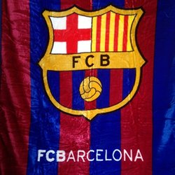 "FCB Barcelona Luxury Plush Blanket - Size: Queen - 79""x94"""