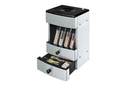 Magnif Brushed Stainless Deluxe Valet Coin Sorter