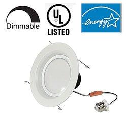 Bioluz LED 19 Watt Energy Star Dimmable Ceiling Lighting - Size: 6-inch