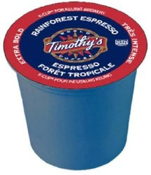 Timothy's World Coffee Rainforest Espresso K-Cup - 48 count