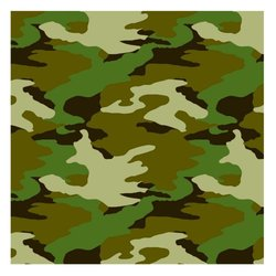 """Adventurous Camouflage Birthday Party Decorations - 30"""" - Camouflage Green"""