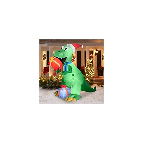 airblown inflatable christmas decor 75 t rex dinosaur eating gifts