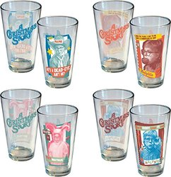A Christmas Story Ralphie 16 oz Pint Glasses Pack 4