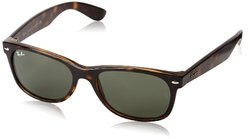 Ray-Ban RB2132 New Wayfarer Non Polarized Sunglasses - Tortoise Green - 55 mm