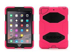 Griffin Survivor All-terrain Tablet Case for iPad Mini - Pink/Black