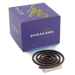 Shoyeido White River Shirikawa Incense Coils - Set of 10