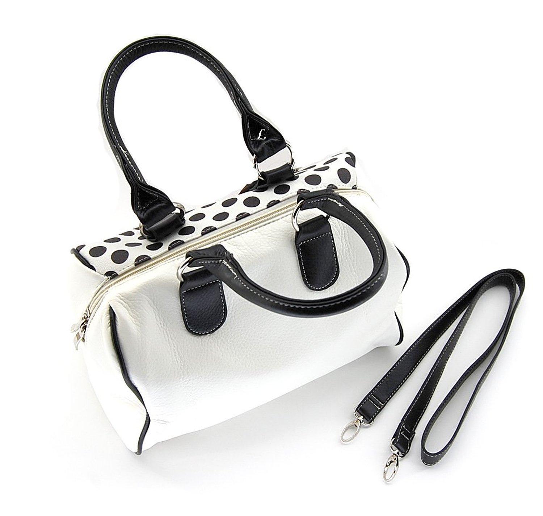 I Love Lucy Polka Dot Satchel Handbag And Wallet Set White