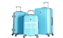 Olympia USA Corsair 3 Piece Expandable Hardcase Spinner Set - Sky Blue