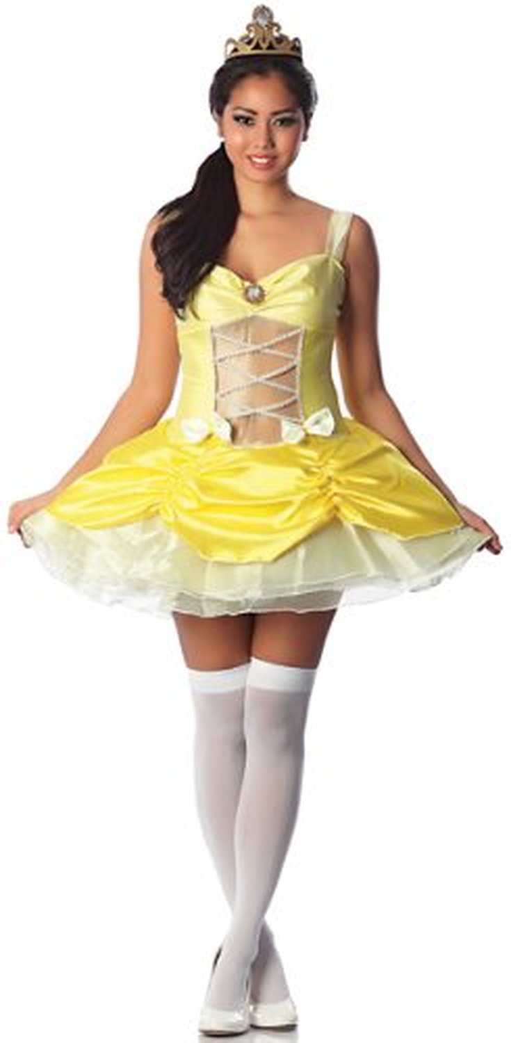 delicious women s belle of the ball sexy costume yellow size xs
