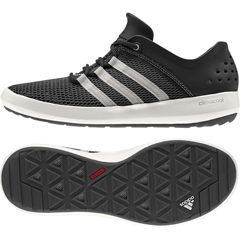 adidas Men's Climacool Boat Pure Shoes - Black/White/Silver -Sz: 9 ...