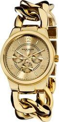 Akribos XXIV Women's AK531YG Twist Chain Quartz Multifunction Watch