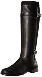 A2 by Aerosoles Women's High Riding Boot Black Combo - Size: 6.5 M