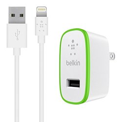 Belkin Boost Up Home Charger with 4' Lightning to USB Cable - White