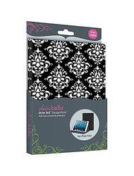 Elibrium365 Designer Folio Case for iPad Mini - Black Damask