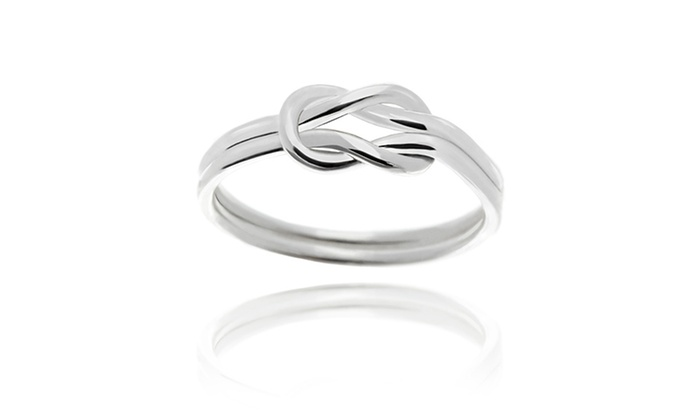 Nes Jewelry Sterling Women s Silver Love Knot Ring - Size  7 - Check ... 7a774df8f