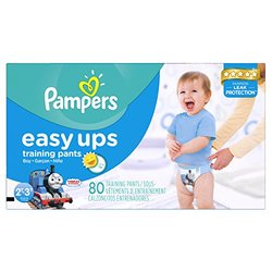 Pampers Easy Ups Training Pants Boys Diapers - 80 Count