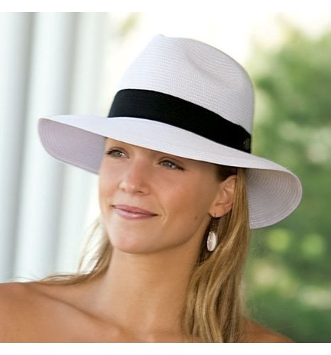 Wallaroo Hat Women s Frankie Fedora Sun Hat - White- Sz  One Size ... b3259572d32