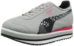 Puma Women's Slim Stacked Camo Lace-Up Fashion Sneaker - Grey - Size: 9