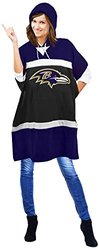 Littlearth NFL Baltimore Ravens Hoodie Poncho - Purple -Size: 70.5 x 32""